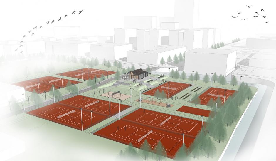Het tennispark!